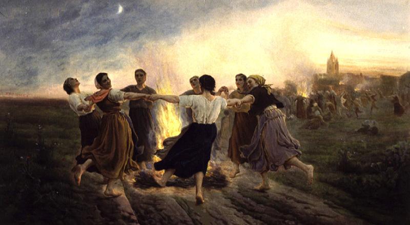 Tableau poétique des fêtes chrétiennes - Vicomte Walsh - 1843 - (Images et Musique chrétienne) Feu